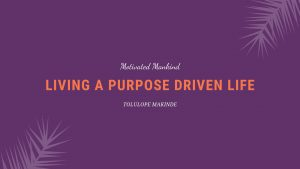 Book Cover: Living a purpose-driven life