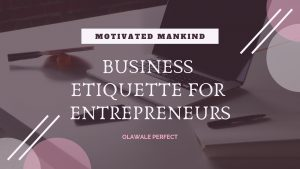 Book Cover: Business Etiquette for Entrepreneurs