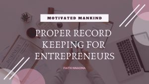 Book Cover: Proper Record Keeping for Entrepreneurs