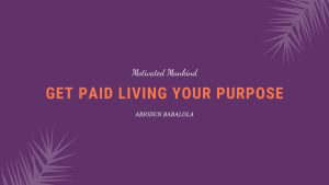 Book Cover: Get paid living your purpose