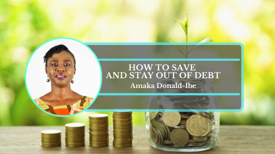 Book Cover: How to save and stay out of debt